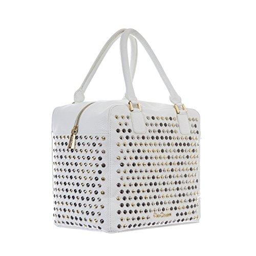 GIO CELLINI - Femme sac a bandoulier duffle bowling b204 Blanc