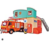 Feuerwehrmann Sam Neue Feuerwehrstation mit Figur, Drehscheibe, Licht und Sound • Feuerwehr Station Feuerwache Spiel Set Feuerwehrhaus Test