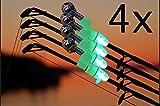 Wagners - Sport LED Angelglocken Set - Bissanzeiger mit integriertem LED Licht für die Angelspitze...