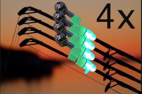 Wagners - Sport LED Angelglocken Set - Bissanzeiger mit integriertem LED Licht für die Angelspitze - Nachtangel Bissanzeiger Aalglocke (4)