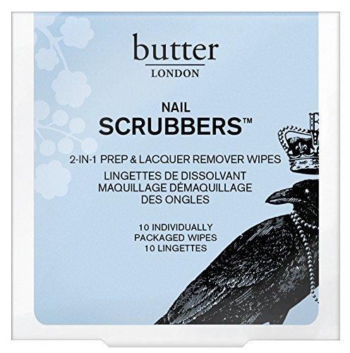 butter LONDON Scrubbers, Nagellackentferner-Tücher, 10 Stück -