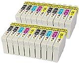 T0711 T0712 T0713 T0714 (T0715) TONER EXPERTE 20 XL Cartouches d'encre compatibles pour Epson Stylus D92 DX4000 DX7450 DX8400 DX8450 SX200 SX215 SX218 SX415 SX515W BX300F BX610FW | Grande Capacité