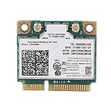 ASHATA WiFi Karte, High Speed 2,4 GHz + 5 GHz Universal PCI-E Wireless Bluetooth 4.0 WLAN Karte,Wireless Mini PCI-e Karte 867M Netzwerkkarte für Intel 7260AC Dell/Toshiba/Acer Laptop PC