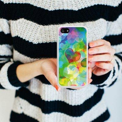 Apple iPhone 4 Housse Étui Silicone Coque Protection Amour Plexi Bunt C½ur Housse en silicone blanc