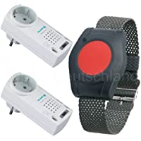 Pflegeruf-Set / Hausnotruf / Senioren-Hausalarm / Senioren-Sicherheitspaket 5 - (mit Funk-Armbandsender und zwei... preisvergleich bei billige-tabletten.eu