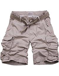 Mengmiao Bermudas Cargo Shorts Hombres Pantalones Cortos Leisure Casual