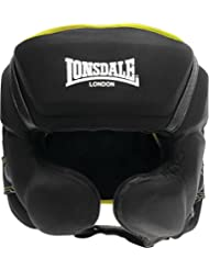 Lonsdale X-Lite - Protector para cabeza, unisex, color multicolor - Black/Acid Green, tamaño small