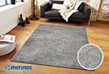 Merinos | Teppich | Diamond | Asos Collection | 12mm | 2,5kg | Rechteckig | Öko-Tex zertifiziert | 100% Polypropylen | Grau | Größe 120cm x 170cm