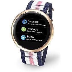 Reloj inteligente My Kronoz zeround 2HR rosa blanco azul NATO