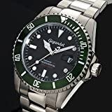 Gigandet Automatik Herren-Armbanduhr Sea Ground Taucheruhr Uhr Datum Analog Edelstahlarmband Schwarz Grün G2-005 - 4