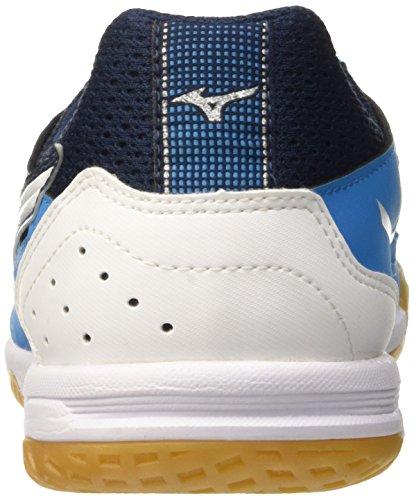 Mizuno Sala Classic In, Chaussures de Football Homme Bleu - Blu (Diva Blue/White)
