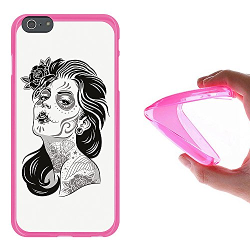 iPhone 6 Plus | 6S Plus Hülle, WoowCase Handyhülle Silikon für [ iPhone 6 Plus | 6S Plus ] Buddha Handytasche Handy Cover Case Schutzhülle Flexible TPU - Transparent Housse Gel iPhone 6 Plus | 6S Plus Rosa D0046