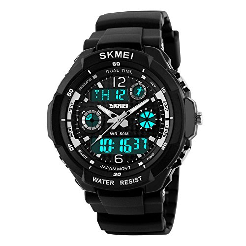 Männer Outdoor Sport Uhr Casual Military Analog Digital LED Wasserdicht