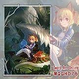 Hi!Hi Rollbild/Kakemono aus Stoff Poster Schwert Art Online Theme Wanddekoration 60x90cm,E