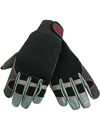 Oregon Scientific 295395 Gants de protection en cuir élastique 4directions pour travail à la tronçonneuse TailleXL