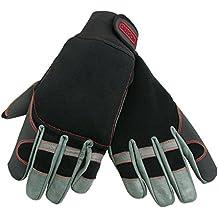 OREGON 295395 - Oregon Scientific elásticas de protección guantes de cuero 4 direcciones para el trabajo con motosierra Talla L