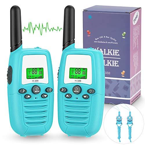 Talkie Walkie pour Enfants Bidirectionnelle Talkie Walkies 3 Miles 8 Canaux Interphone Jouet 0.5W Flashlight VOX Two Way Radio