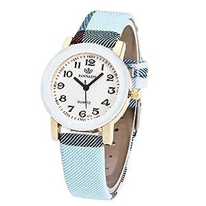 Cramberdy Herren Uhren Damen Uhr Mode Unisex Damenuhren Herrenuhren Leder Band Analog Quarz Armbanduhren für Männer Frauen