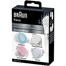 Braun Face - Cepillos de recambio para dispositivo de limpieza facial, 4 cepillos