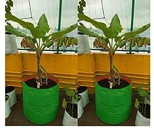 "YUVAGREEN Plastic Big Size Terrace Gardening Grow Bag for Fruits, Banana, 24"" X 24"" (Pack of 2)"