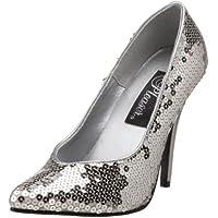 PLEASER SED420SQ/S- Scarpe da Donna - (6 Sexy Silver Shoe)