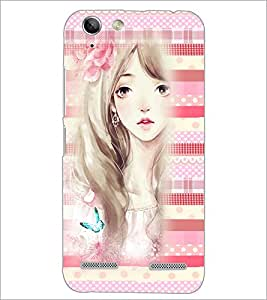 PrintDhaba Cute Girl D-3809 Back Case Cover for LENOVO VIBE K5 (Multi-Coloured)