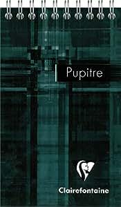 Clairefontaine 8622C Bloc Pupitre à spirale détachables couverture pelliculée 160 pages 90 g 8,5 x 14 cm Couleur Aléatoire