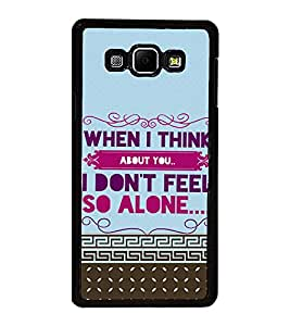 ifasho Designer Back Case Cover for Samsung Galaxy A8 (2015) :: Samsung Galaxy A8 Duos (2015) :: Samsung Galaxy A8 A800F A800Y (When I Think About You)