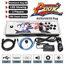 supertop 1388 in 1 Arcade Game Console Pandora's Box 6s Retro Video Games Light Arcade Machine Joystick Double Stick Arcade Console