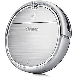 Clymen Q8 Robot Aspirateur Nettoyage 3 En 1 Avec Commandes Vocales, Robot Automatique Avec Navigation 2D, Se Connecte Au Wifi Et Compatible Avec Alexa App, Lumière UV Pour Désinfection