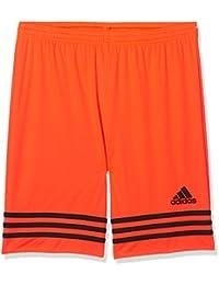 adidas Entrada 14, Pantaloncino Bambino, Multicolore (Arancione/Nero), 152
