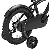 Black Cruiser 12 Zoll Fahrrad schwarz matt Kinderfahrrad Stützräder Jungen 1201G Test