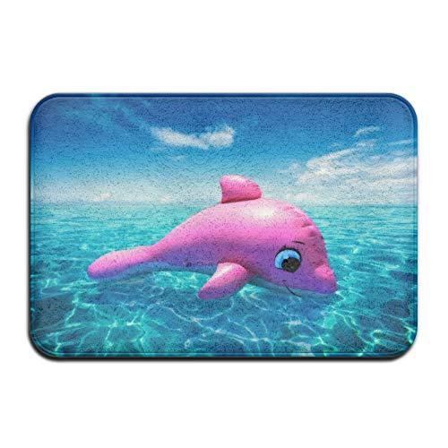 LIS HOME Teppich rutschfeste Flecken verblassen resistente Fußmatte Red Dolphin Balloon Outdoor Indoor Mat Zimmer Teppich Badematte