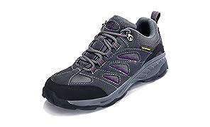 TFO Damen Trekking & Wanderschuhe Atmungsaktive Walkingschuhe Sport Outdoor Schuhe mit Gedämpfter Sohle