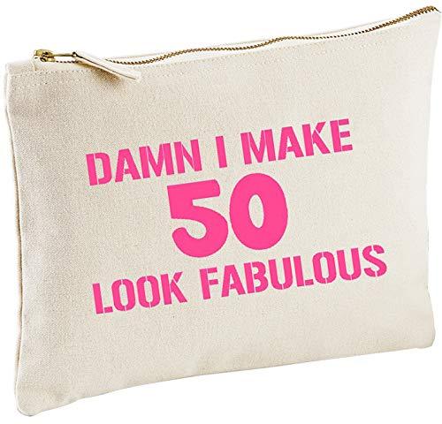Damn I Make 50 Look Fabulous 50th Birthday Make-Up Bag