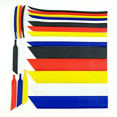 DekoRex Schrumpfschlauch 3:1 Auswahl aus 8 Größen und 5 Farben Weiß 3mm