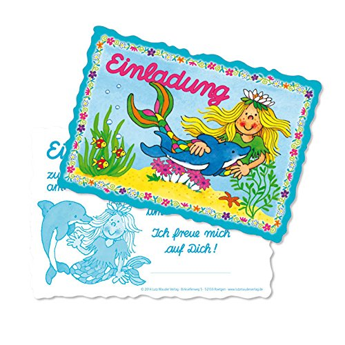 Party Supplies Seestern (Lutz Mauder Lutz mauder26011 Mermaid Punch Karte Einladung Set (8-teilig))