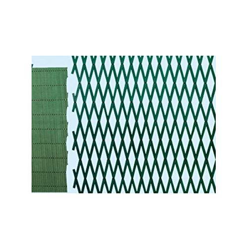 Fraschetti traliccio estensibile in plastica verde per piante rampicanti mt 4xh1