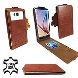 Premium Echtleder (Flipstyle) Smartphone Klappbare Flip