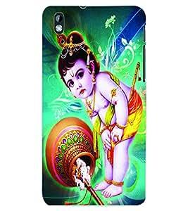 ColourCraft Lord Krishna Back Case Cover for HTC DESIRE 816
