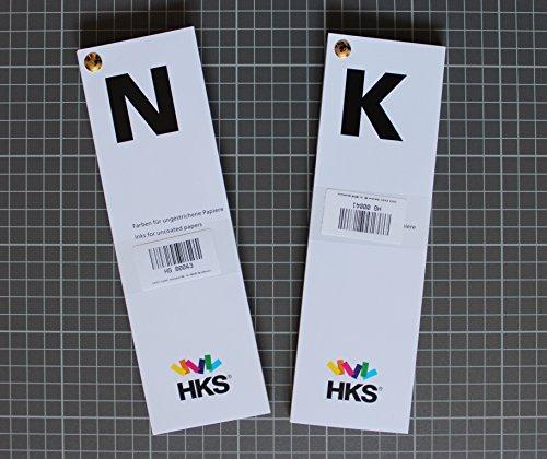 HKS®-Farbfächer Set (HKS®-K + HKS®-N), für Kunstdruckpapiere / Bilderdruckpapiere und Naturpapiere, Druckerei, Mediengestalter, Vierfarbdruck, Offsetdruck