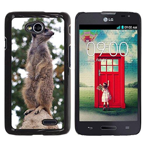Grand Phone Cases Bild Hart Handy Schwarz Schutz Case Cover Schale Etui // M00141080 Nagertiertier- // LG Optimus L70 MS323