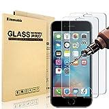[MaxTeck Verre Trempé pour iPhone 6S 6, Film Protection en Verre trempé Écran Protecteur Vitre- Anti Rayures - sans Bulles d'air -Ultra Résistant Dureté 9H - Compatible 3D Touch [3 Pièces]]