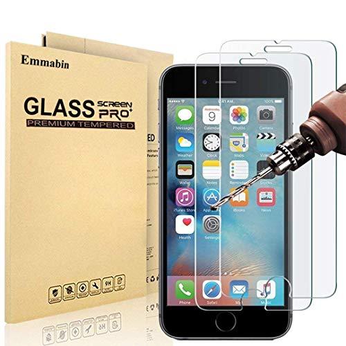 Emmabin Verre Trempé pour iPhone 6S 6, Film Protection en Verre trempé Écran Protecteur Vitre- Anti Rayures - sans Bulles d'air -Ultra Résistant Dureté 9H - Compatible 3D Touch [3 Pièces]