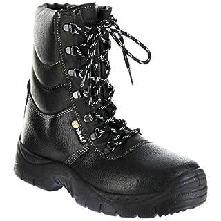 Alba&n Sicherheitsstiefel warm schwarz S3 SRC Herren Arbeits-Schutz-Schuhe K52L, Farbe:schwarz, Größe:46