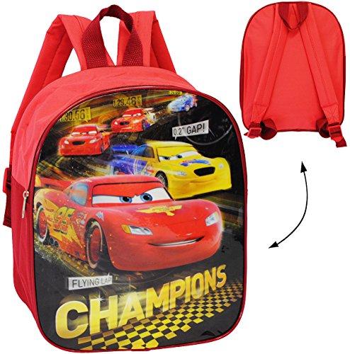 alles-meine.de GmbH Kinder Rucksack -  Disney Cars - Lightning McQueen  - wasserfest & beschichtet - Kinderrucksack / groß Kind - Jungen - Tasche - z.B. für Kindergarten / Vors.. (Jungen Für Disney-rucksäcke)
