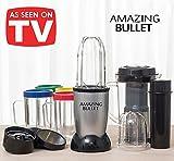 Il nuovo Amazing Bullet 9 in 1! Mega kit frullatore mixer 21 pezzi con centrifuga inclusa! Tritatutto magic super rapido con molti accessori inclusi, trita, macina, sminuzza e frulla in pochi secondi!