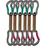 Fusion Fusion Climb Techno Zoom Bent Gate Key Nose Carabiners Ultra-Light Quickdraws BG/BG-11 CM 6-Pack Set