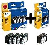 Pelikan P27 4+1 Promo Pack PLUS ersetzt HP 2x 932XL 3x933XL BK,C,M,Y 2x33ml 3x14ml schwarz/cyan/magenta/gelb MIT CHIP