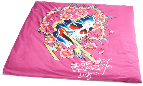 Ed Hardy Beautiful Ghost (Ed Hardy 10371200 Bettwäsche Beautiful Ghost 200 x 210 cm, 100% Baumwolle)